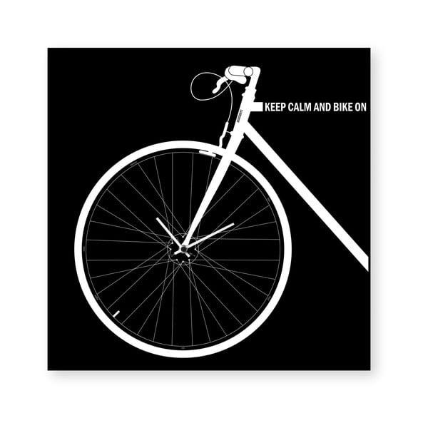 Zegar ścienny dESIGNoBJECT.it Bike Black,50x50cm