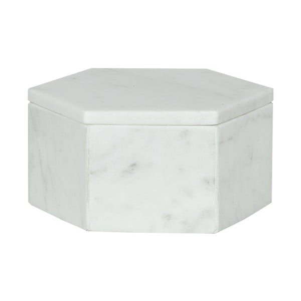 Marmurowe pudełka Signe White 15 cm