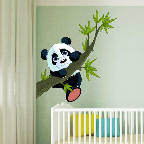 Dziecięca naklejka ścienna Ambiance Panda On Branches