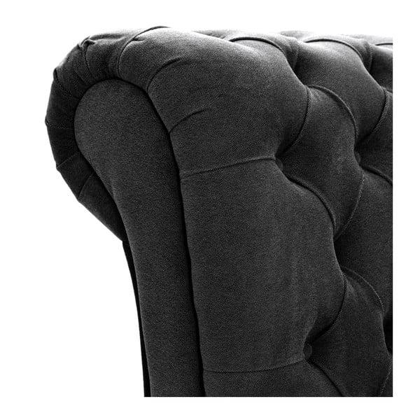 Ciemnoszare łóżko z czarnymi nóżkami Vivonita Allon, 140x200 cm