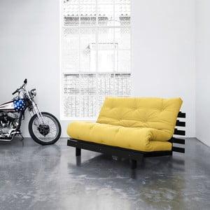 Sofa rozkładana Karup Roots Wenge/Amarillo