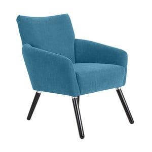 Niebieskozielony fotel Max Winzer Jörn Velor