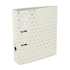 Segregator na dokumenty Go Stationery Gold Polka Shimmer Cream, duży