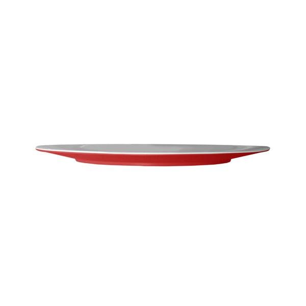 Czerwony talerz Entity, 33,2 cm