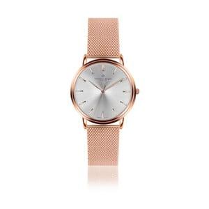 Zegarek z paskiem ze stali nierdzewnej w kolorze różowego złota Frederic Graff Rose Breithorn Rose Gold Mesh