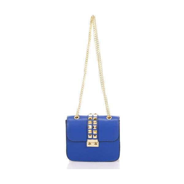 Niebieska torebka skórzana Giulia Massari Skata