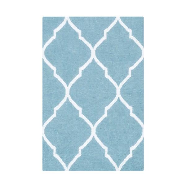 Jasnoniebieski dywan wełniany Bakero Caroline, 60x90 cm