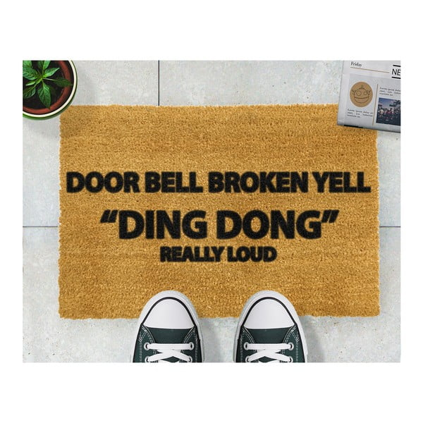 Wycieraczka Artsy Doormats Yell Ding Dong, 40x60 cm