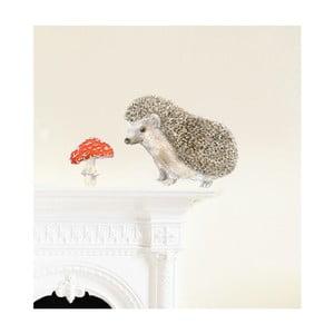 Naklejka wielokrotnego użytku Hedgehog, 30x21 cm