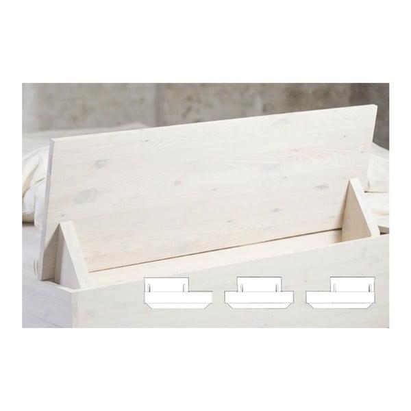 Łóżko Luke z regulowanym zagłówkiem i półkami, 160x200 cm