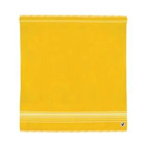 Żółty ręcznik Origama Flat Seat, 200x200cm