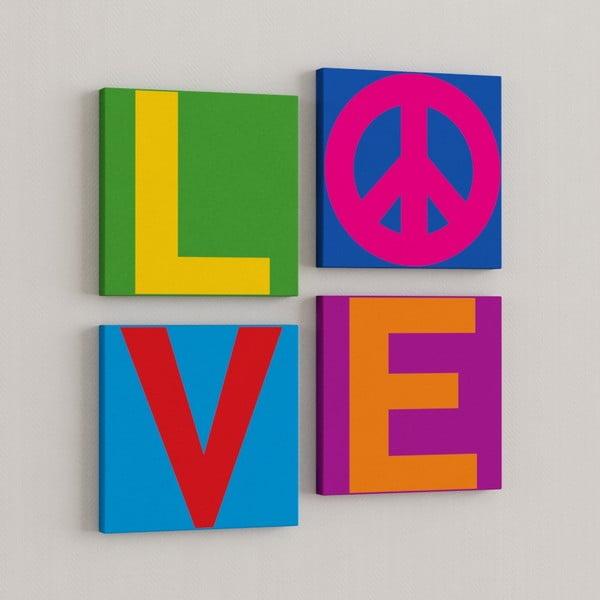 Zestaw 4 obrazów Miłość