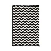 Czarny dywan Cihan Bilisim Tekstil Zig Zag 80x150 cm
