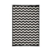 Czarny dywan Zag 80x150 cm