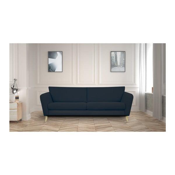 Czarna sofa 3-osobowa Helga Interiors Max