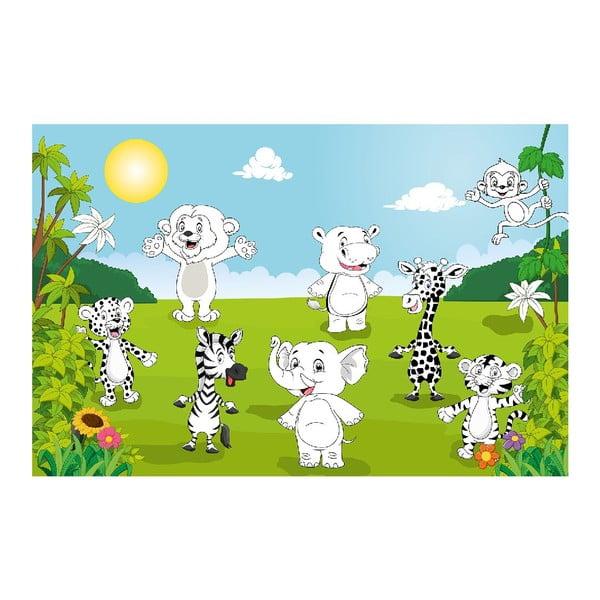 Wielka kolorowanka Happy Animals, 175x115 cm