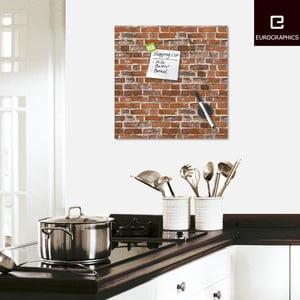 Tablica magnetyczna Eurographic Brick Loft, 50x50 cm