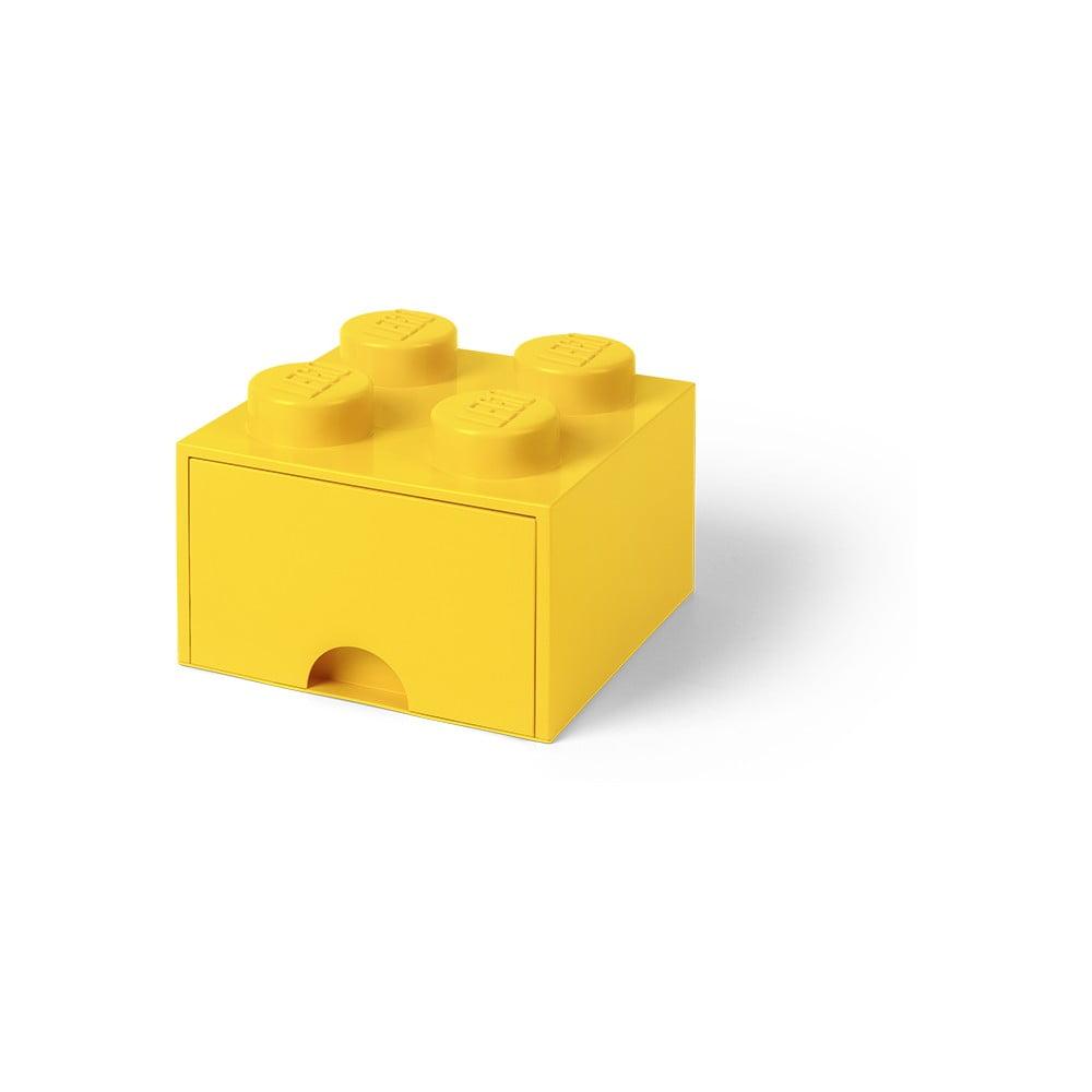 Żółty pojemnik z szufladą LEGO®