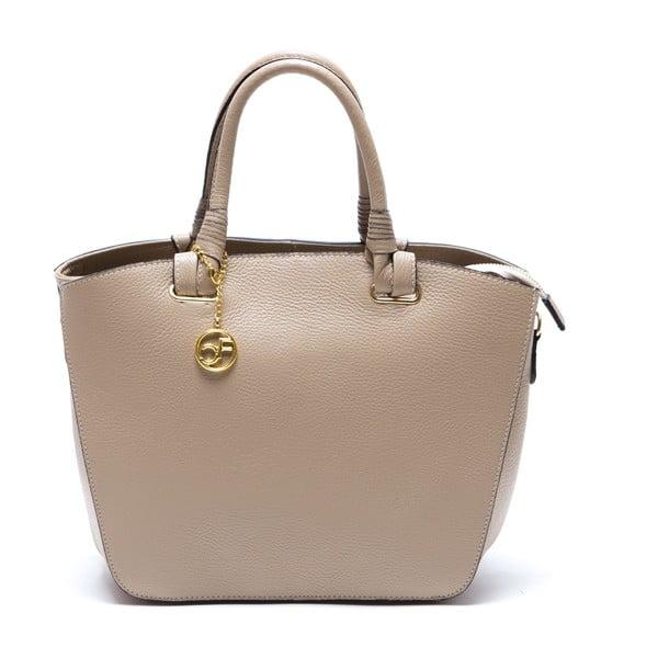 Skórzana torebka Ciara, beżowa