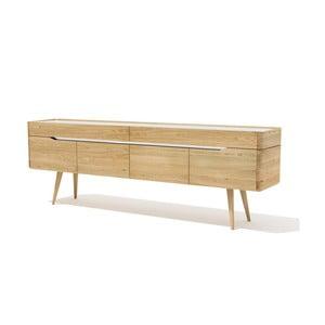 Szafka pod TV z litego drewna dębowego Javorina Terra, 240 cm