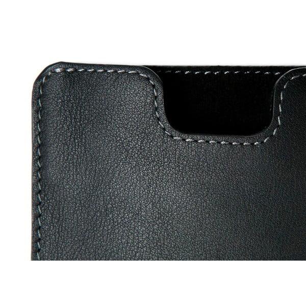 Danny P. skórzany portfel z kieszenią na iPhone 5S Black