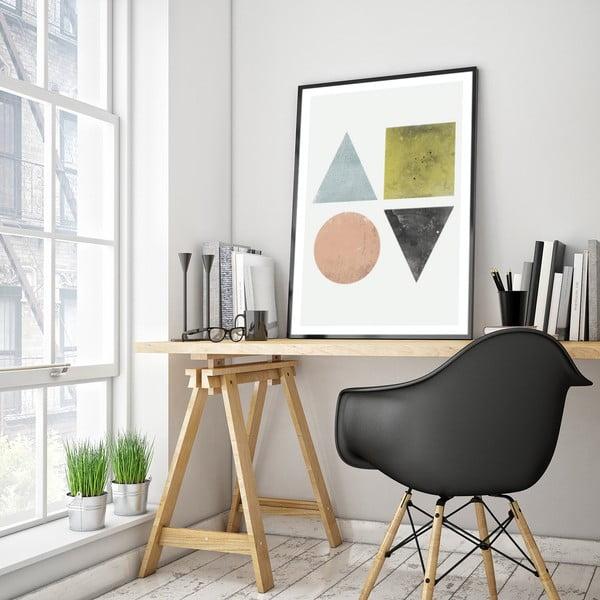 Plakat w drewnianej ramie Nigra, 38x28 cm