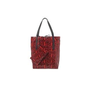 Skórzana torebka Soft Red