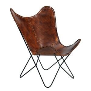 Brązowy fotel skórzany Fuhrhome Amazon
