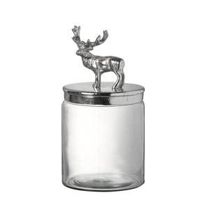 Szklany pojemnik z jeleniem Stag, 29 cm