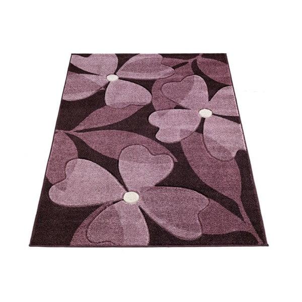 Dywan Intarsio Floral Violet, 160x230 cm