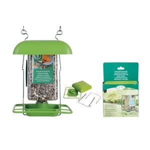 Zielony uchwyt na karmę dla ptaków Esschert Design, wys.29cm