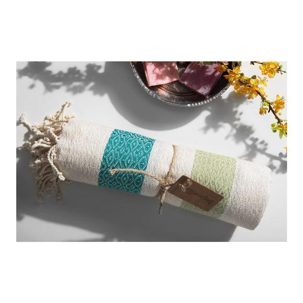 Ręcznik hammam Moss Green, 95x175 cm