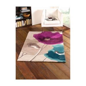 Dywan Poppy Flowers Teal Purple, 80x150 cm