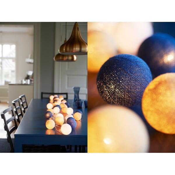 Świecący łańcuch Nordic Blue, 35 lampek