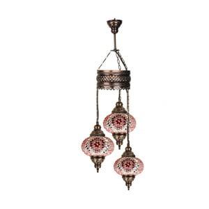Szklana lampa wisząca Three XVII, 17 cm