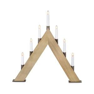 Świecznik drewniany LED Markslöjd Stubb