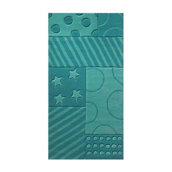 Dywan Esprit Stars Stripes Turquoise, 170x240 cm