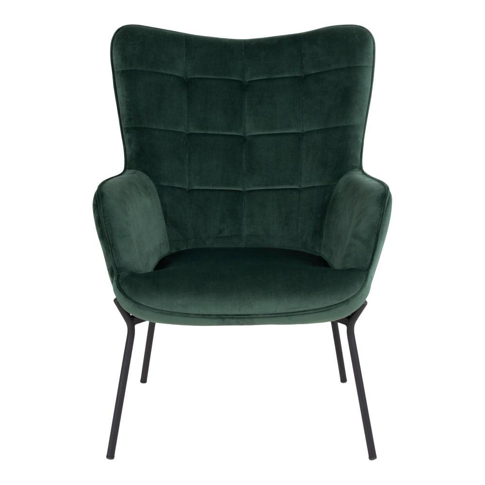 Zielony aksamitny fotel House Nordic Glasgow