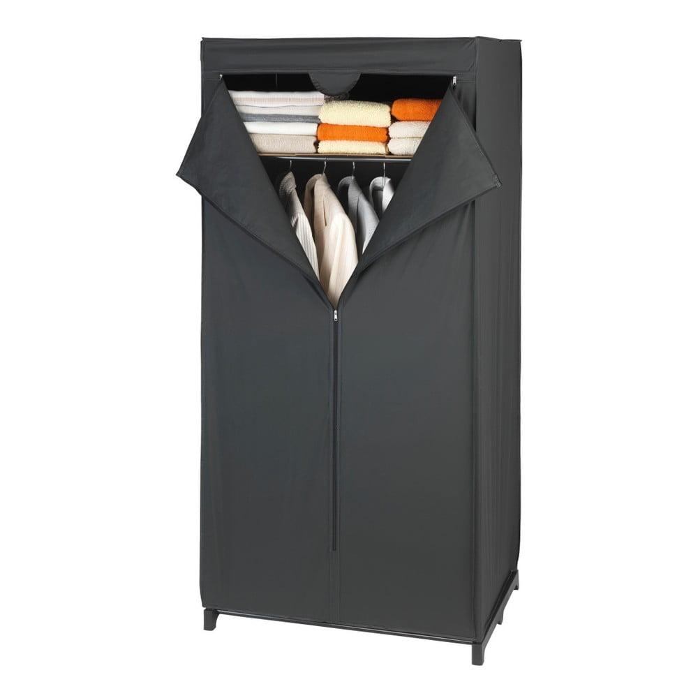 Czarna szafka materiałowa Wenko, 160x50x75 cm
