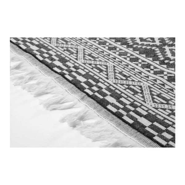 Ręcznik hammam Motif Black, 100x175 cm