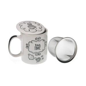 Kubek z sitkiem i wieczkiem Tea Time