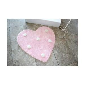 Dywanik łazienkowy Alessia Poni Pink, Ø 90 cm