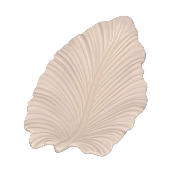Taca ceramiczna Leave, kremowa