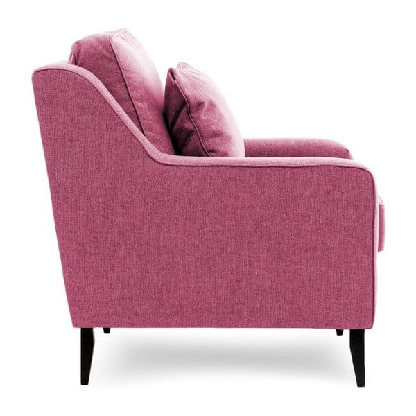 Różowa sofa dwuosobowa Vivonita Bond