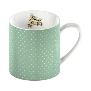 Zielony kubek porcelanowy w kropki Creative Tops Cottage Flower, 330ml