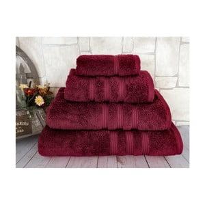 Ciemnoczerwony ręcznik Irya Home Classic, 30x50 cm