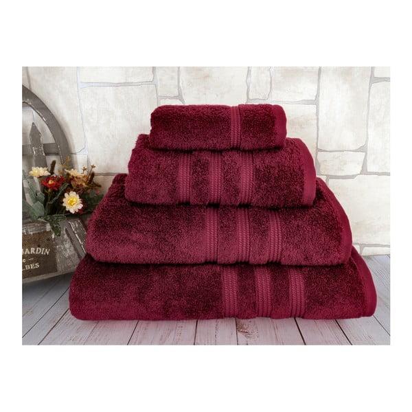 Ciemnoczerwony ręcznik Irya Home Classic, 50x90 cm