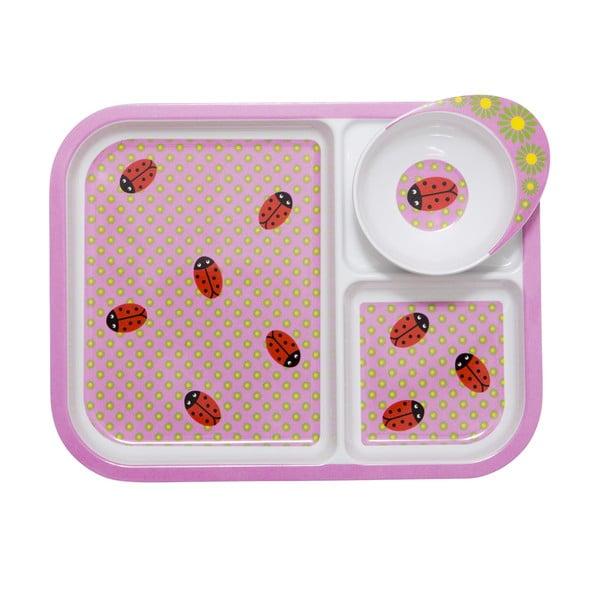 Taca dziecięca z miską Ladybug