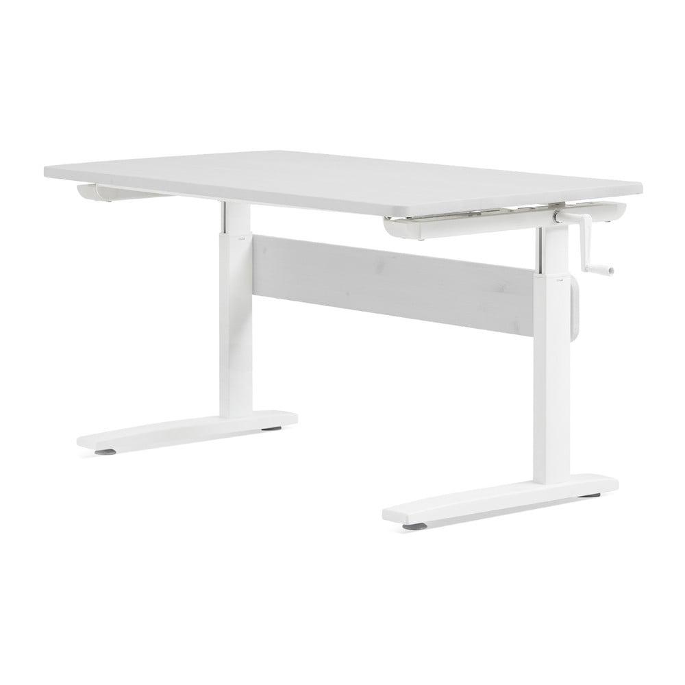 Białe biurko z regulacją wysokości Flexa
