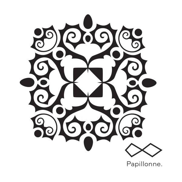 Naklejka winylowa Szary ornament secesyjny, 9 szt